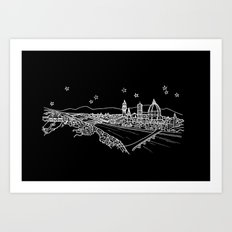 Florence (Firenze), Italy City Skyline Art Print