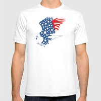 American Eagle Mens Fitted Tee White SMALL