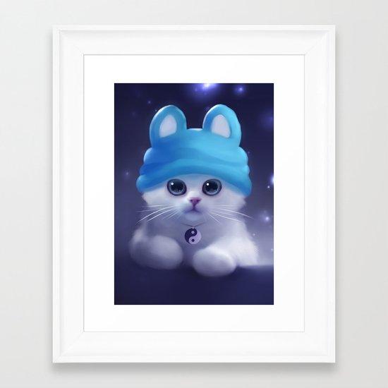 Yang The Cat Framed Art Print