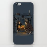 iPhone & iPod Skin featuring The Witch In The Firepla… by Karen Hallion Illust…