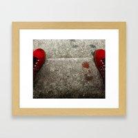 Red Shoes Framed Art Print