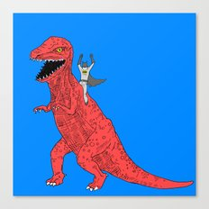 Dinosaur B Forever Canvas Print