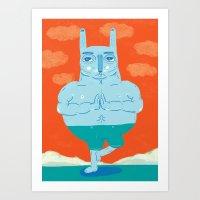 Zen Rabbit Art Print