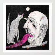 Art Print featuring Stares. 2015.  by Carp Matthew