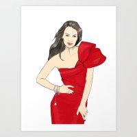 Girl In Style Art Print