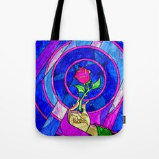 Beauty And The Beast Red Rose Flower Tote Bag