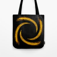 Golden Swirl Tote Bag