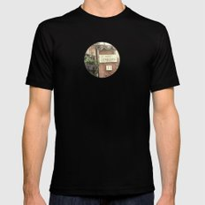Villa Les Violettes SMALL Black Mens Fitted Tee