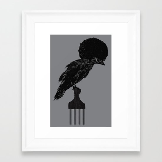 The Black Crow Framed Art Print