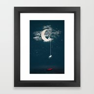 Framed Art Print featuring Among The Stars by Jreamer