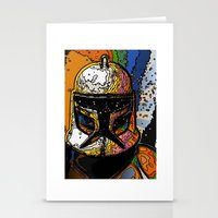 Funky Bucket Head Stationery Cards