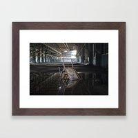 Flipped Chair Framed Art Print