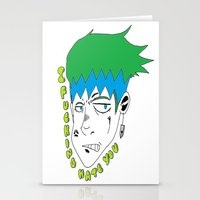 I HATE YOU other ver. Stationery Cards
