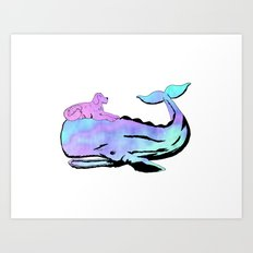 Oh, Whale! Art Print