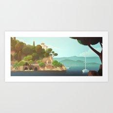 Golden Beard - Background Design Art Print