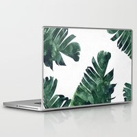 Laptop Skins featuring Banana Leaf Watercolor Pattern #society6 by 83oranges.com