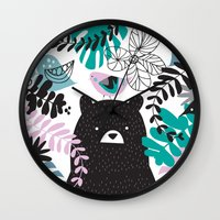 Bear adventure Wall Clock