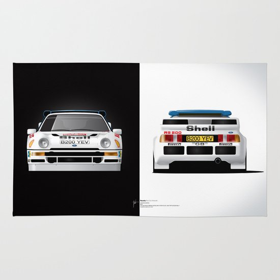Group B Edition, N.º4, Ford RS200 Area & Throw Rug