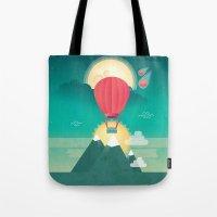 Sun, Moon & Balloon Tote Bag