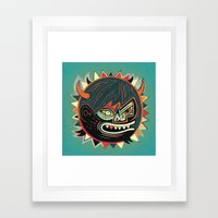 Gorilla - Blue Framed Art Print