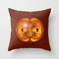 Fire Crystal Throw Pillow