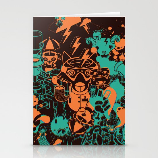 Dream Factory Orange and Blue Stationery Card
