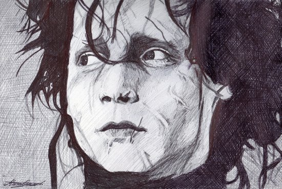 Edward Scissorhands   Canvas Print