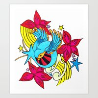 The Musical Swallow Art Print