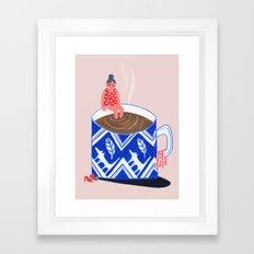 Morning Coffee swim Framed Art Print