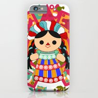 iPhone & iPod Case featuring Maria 6 (Mexican Doll) by Alapapaju