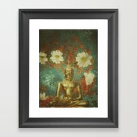 Retro Buddha Framed Art Print