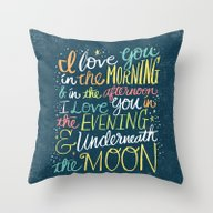 I LOVE YOU IN THE MORNIN… Throw Pillow