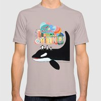 TIME IS A MYTH, Penguins… Mens Fitted Tee Cinder SMALL