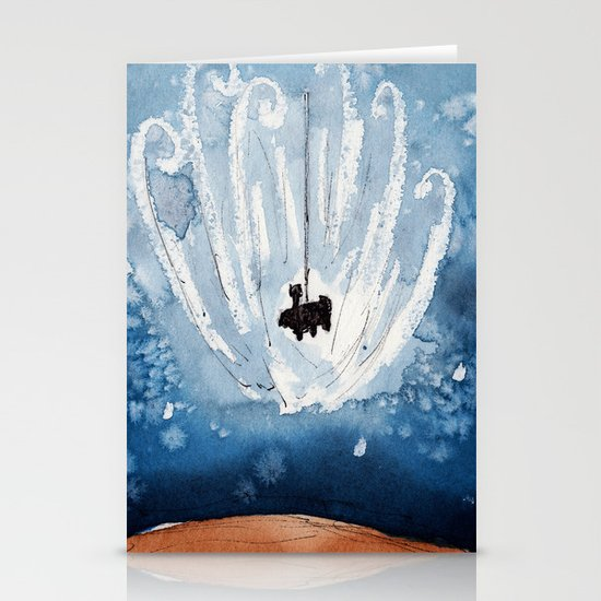 The Landing of Curiosity Stationery Card