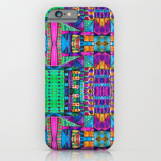 Tribal Patchwork II Pink iPhone & iPod Case