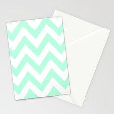 MINT CHEVRON Stationery Cards
