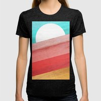 Warm Waves  Womens Fitted Tee Tri-Black SMALL