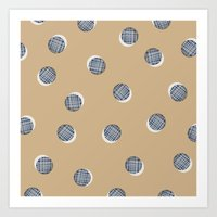 Mixed Dots - In Cocoa Art Print