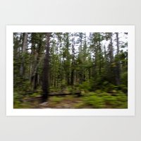 Motion Blurred Forest Art Print