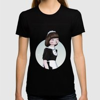 Air Doll Womens Fitted Tee Black SMALL