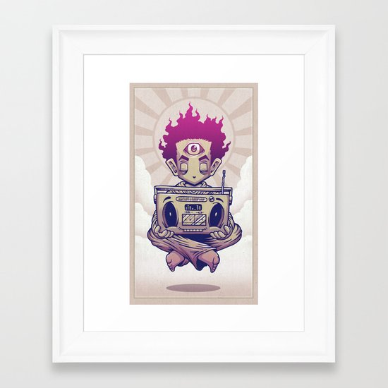 Eye Opener Framed Art Print
