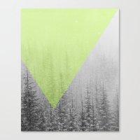 NEON NATURE | Green Canvas Print