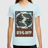 Fight Womens Fitted Tee Light Blue SMALL