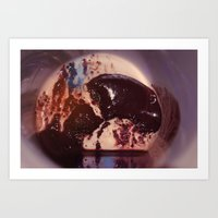 Coffee Stains Bull Art Print