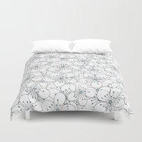 Cherry Blossom Blue - In Memory of Mackenzie Duvet Cover