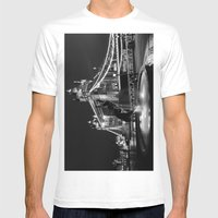 Tower Bridge And The Gir… Mens Fitted Tee White SMALL