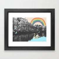 LOVE FROM AMSTERDAM!  Framed Art Print