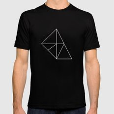 Geometry Black Mens Fitted Tee SMALL