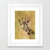 Lady Giraffe Framed Art Print