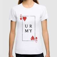 UR QUEEN OF MY HEART Womens Fitted Tee Ash Grey SMALL
